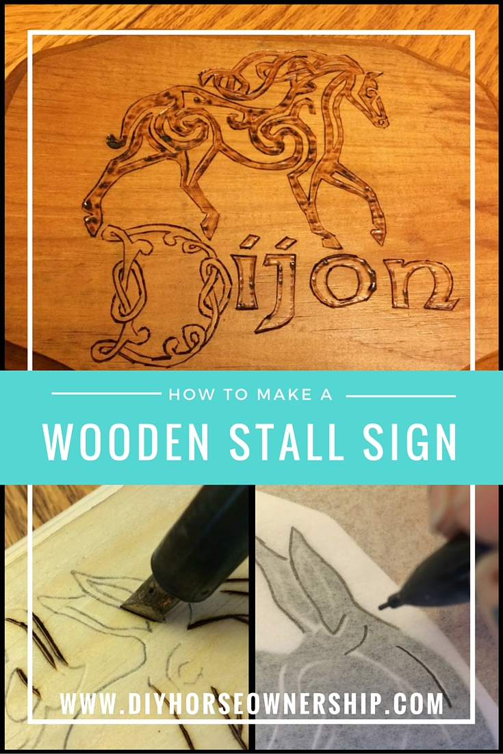 Wooden Stall Sign