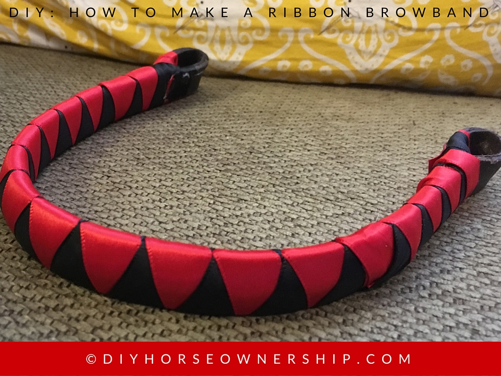 DIY How to Make a Ribbon Browband Step 14