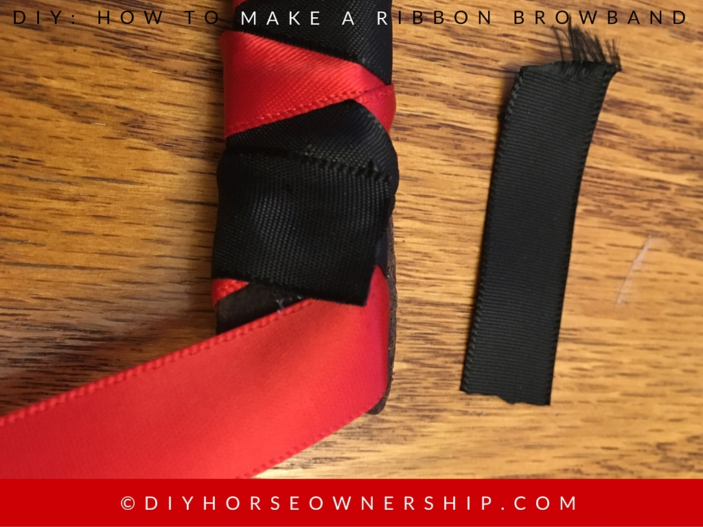 DIY How to Make a Ribbon Browband Step 10
