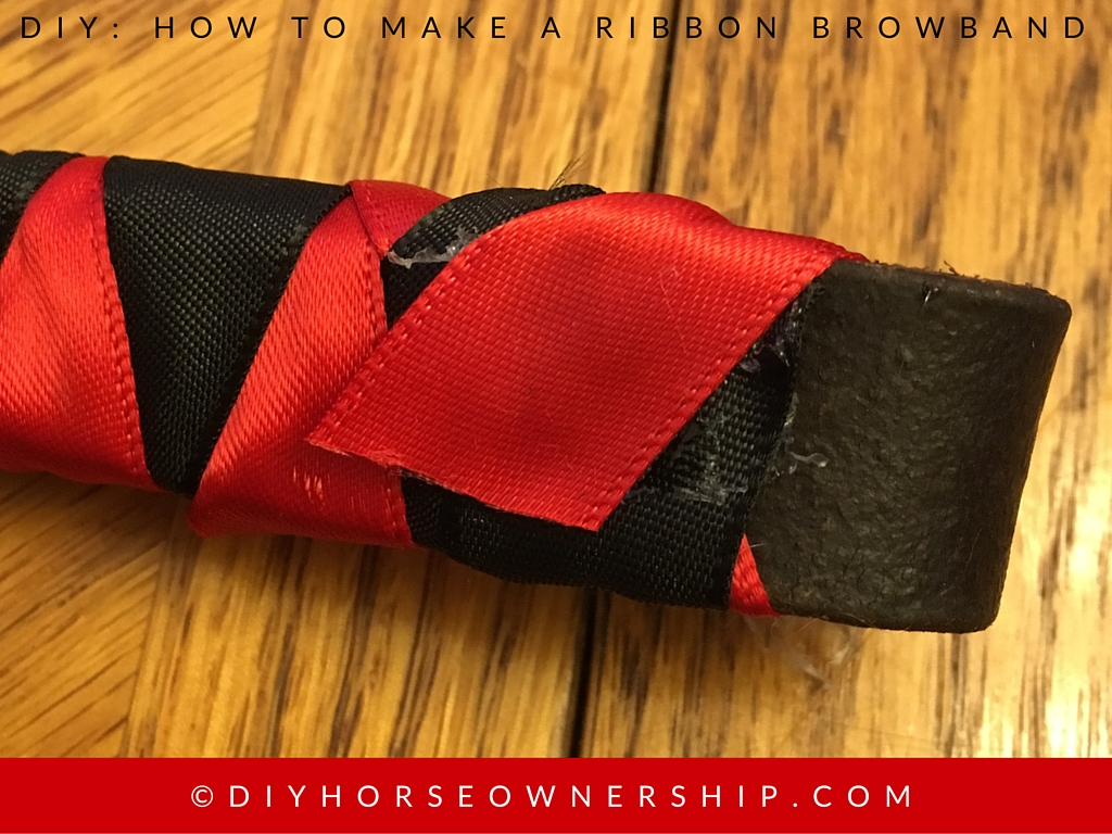 DIY How to Make a Ribbon Browband Step 11