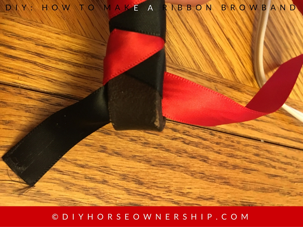 DIY How to Make a Ribbon Browband Step 12