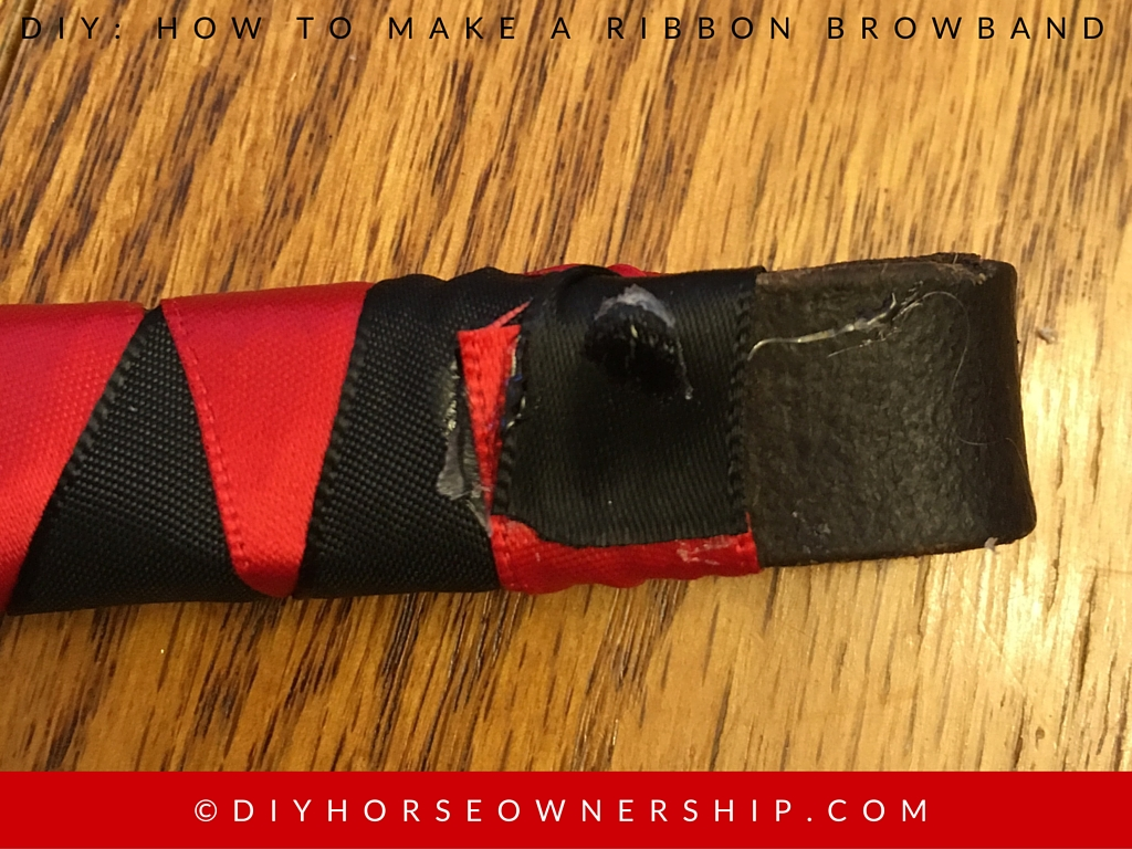 DIY How to Make a Ribbon Browband Step 13