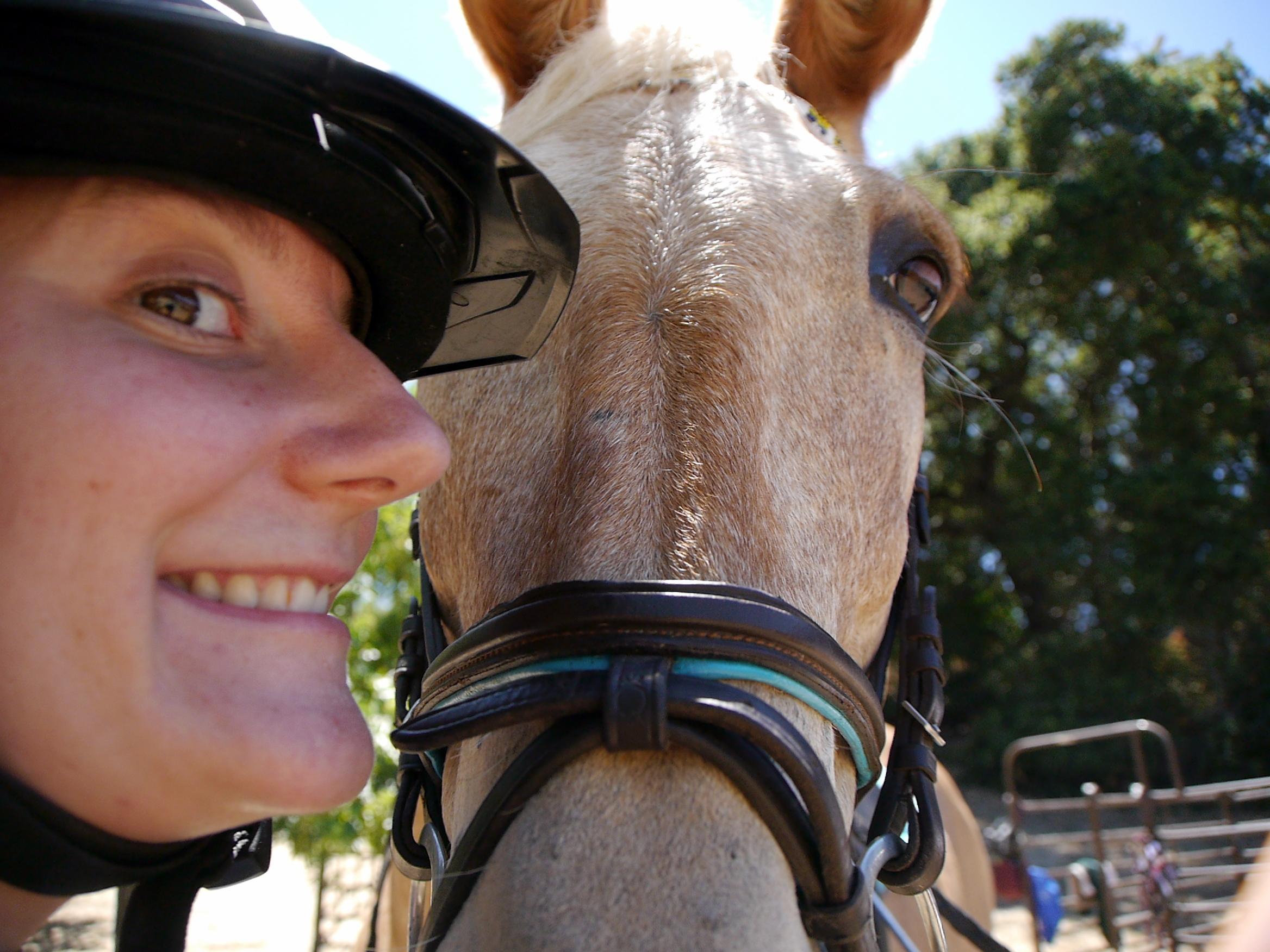 mule selfie