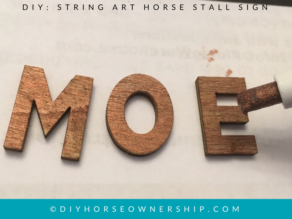 DIY How to Make a String Art Stall Sign
