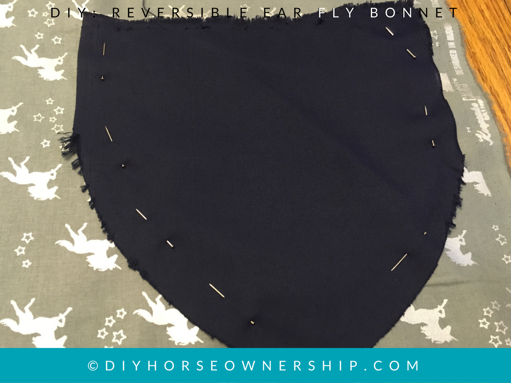 DIY How to make a reversible ear horse fly bonnet