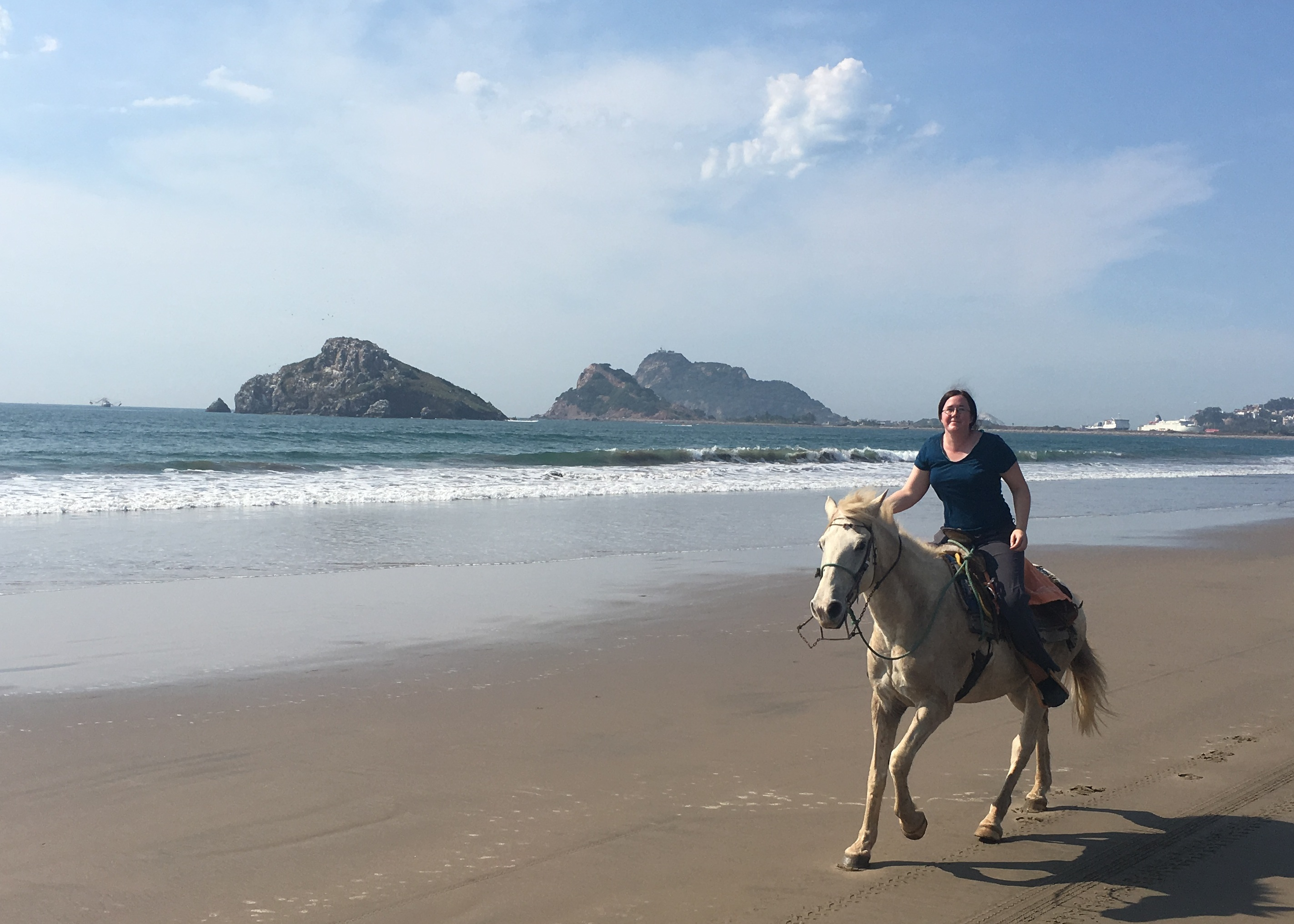 canter on beach