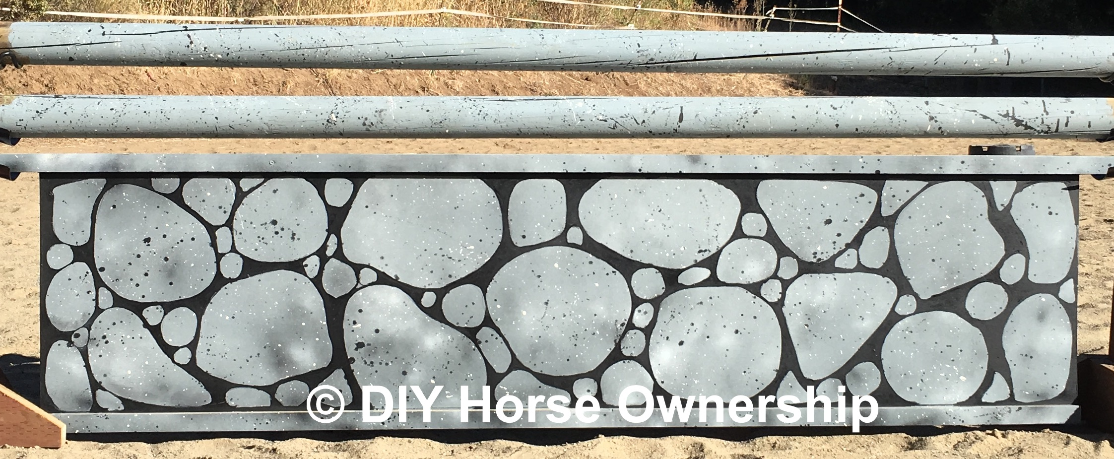 DIY: How to make horse jumps panel jump stone wall rainbow jump paint