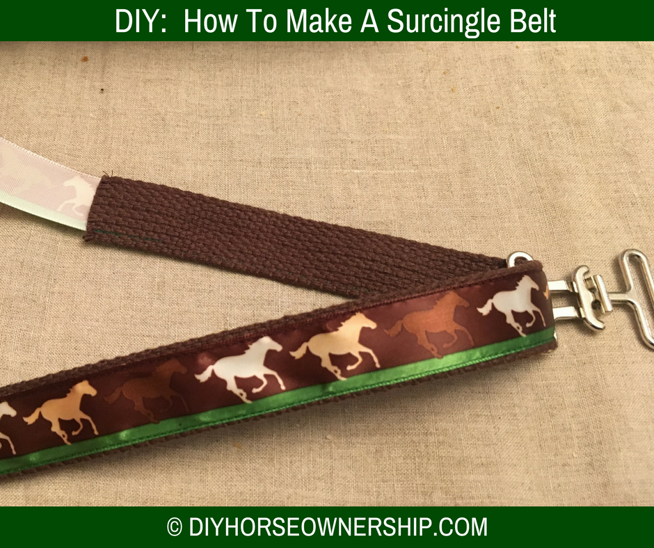 DIY Do It Yourself How to Make a Horse Equestrian Surcingle Fashion Belt