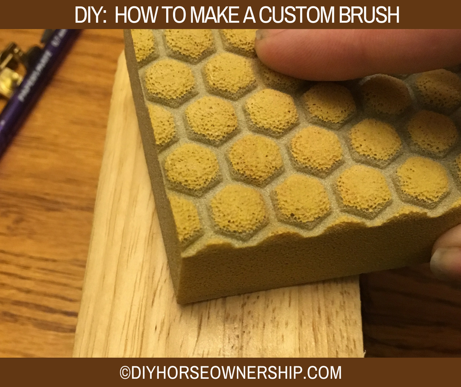 DIY Do It Yourself How to make a custom wood burned horse brush
