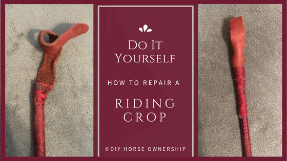 DIY: How to make repair fix a riding crop horse whip