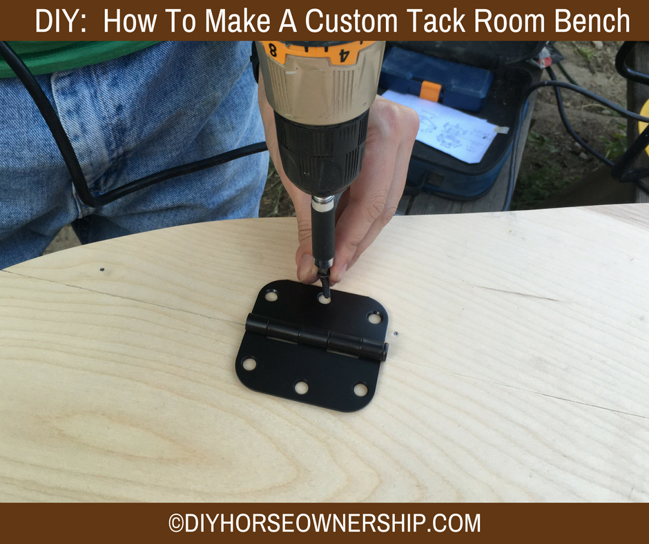 DIY How to make a custom trailer tack room storage bench