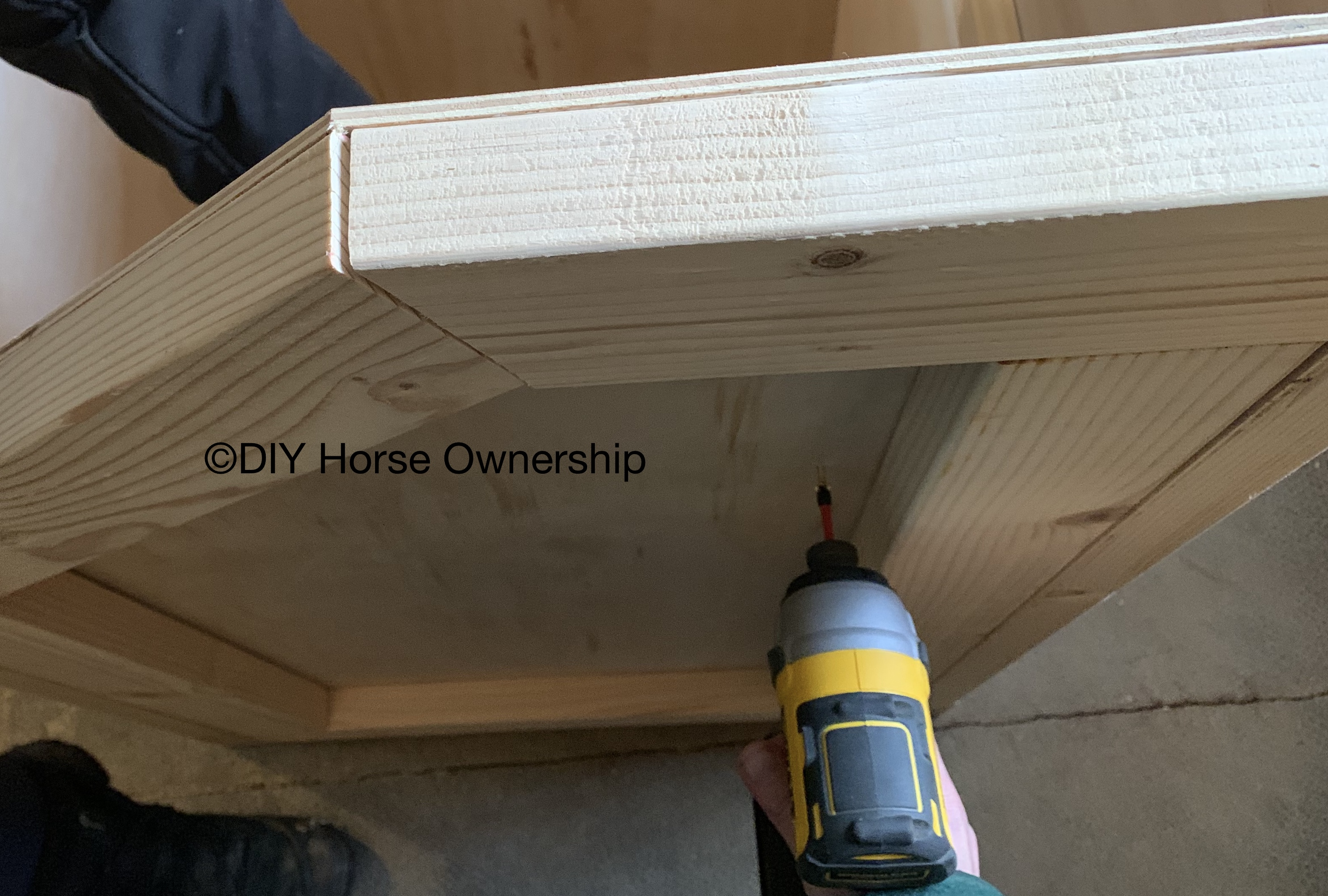 Do it yourself how to make a wooden horse feed bin